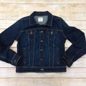 Old Navy Dark Wash Denim Jacket Size M